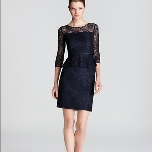 Adrianna Papell Lace Peplum Dress